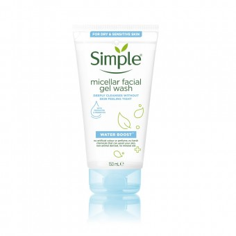 Simple Water Boost Micellar Facial Wash Gel Wash 150ml