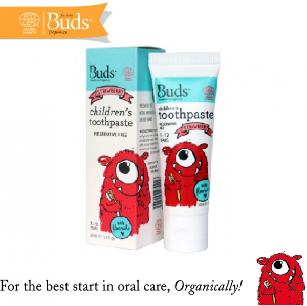 Buds Children Toothpaste (3-12 Years Old) Strawberry 50ML
