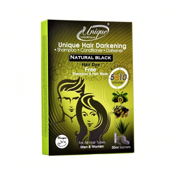 Unique Hair Darkening Natural Black 30ML 1S