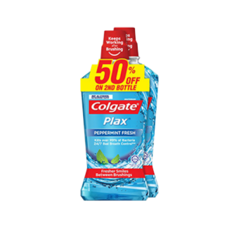 Colgate Plax 750ml x2 Peppermint