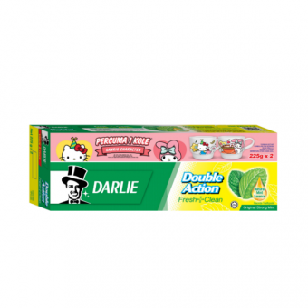 Darlie Tooth Paste Double Action 225Gx2 Mint Flavor Foc Sanrio Characters Mug