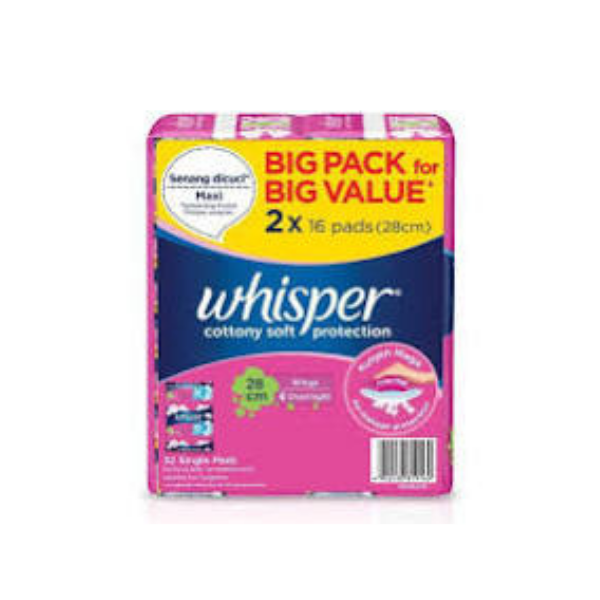 Whisper Cottony Soft H&O 28Cm Wing 2X16S