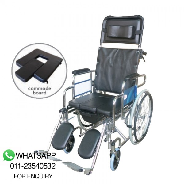 Greencity Reclining Commode Wheelchair (WC-607)