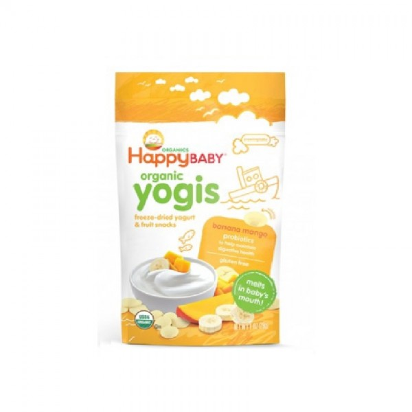 Happy Yogis Organic Yogurt Snacks Banana Mango (28g)
