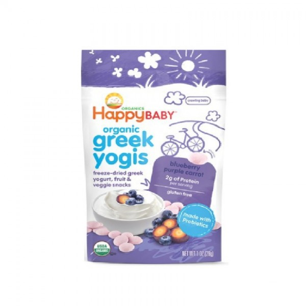 Happy Yogis Greek Yogurt Blueberry & Purple Carrot 28G