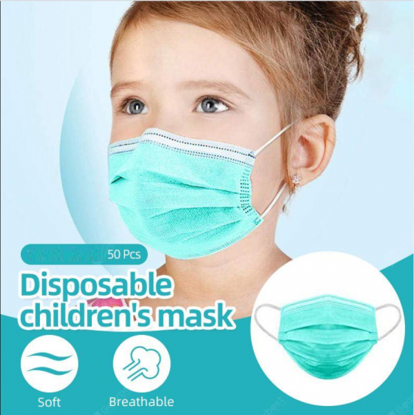 Disposable 3 Ply Face Mask (Ear Loop) (Child)- 50s