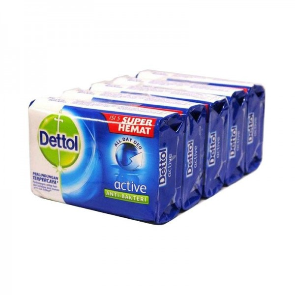 Dettol Bar Soap Active 110G (Buy 3 Free 1)