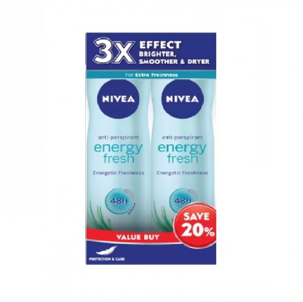 NIVEA FEMALE Energy Fresh Spray 150ml x 2