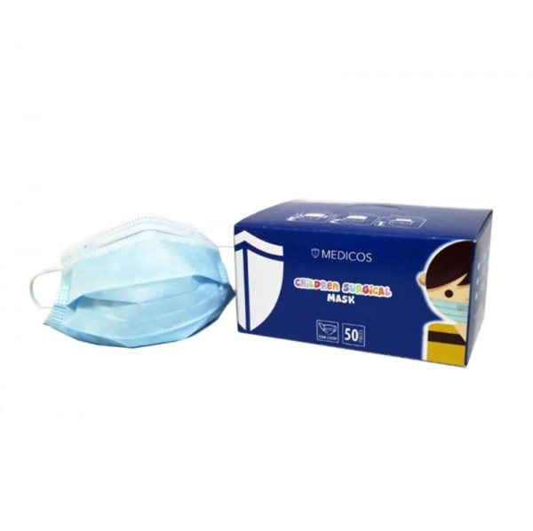 Medicos Children 3 Ply Surgical Face Mask (Earloop) 50S