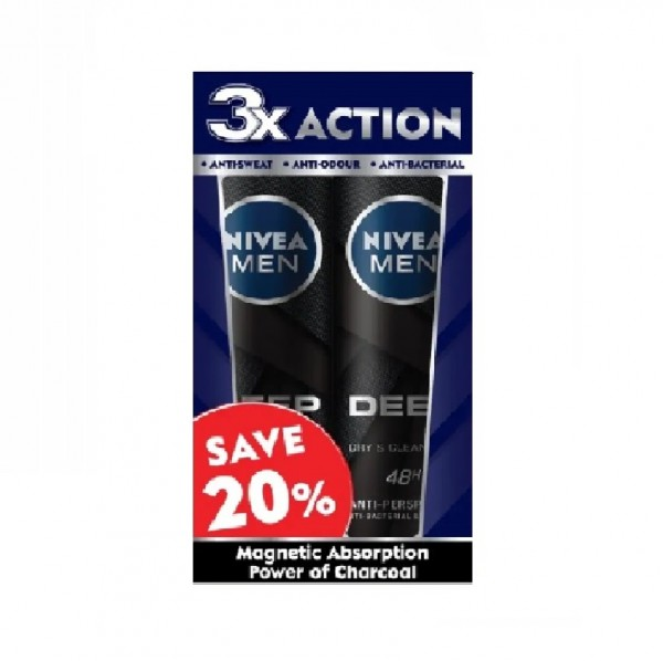 Nivea MEN Deep Spray 2X150ML