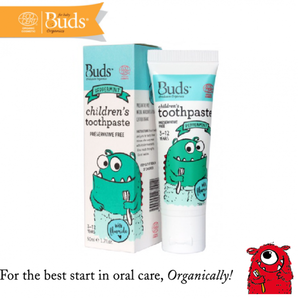 Buds Children Toothpaste (3-12 Years Old) Peppermint 50ML