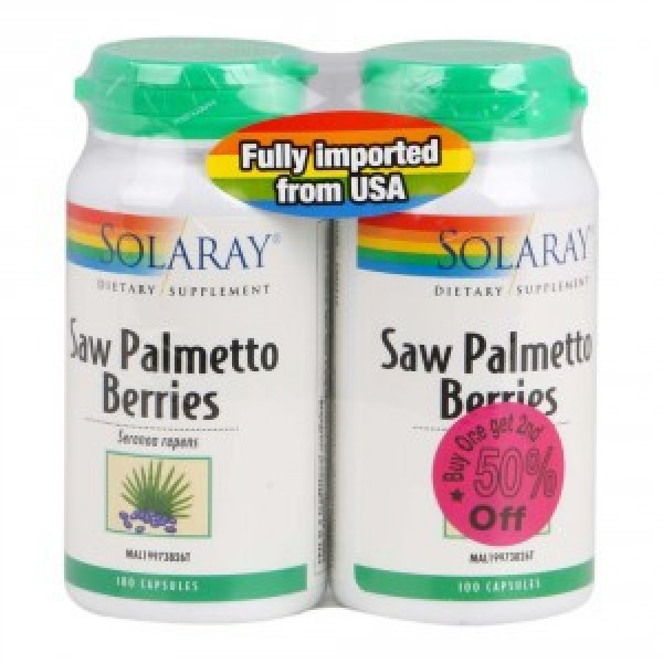Solaray Saw Palmetto Berries (100s x 2)