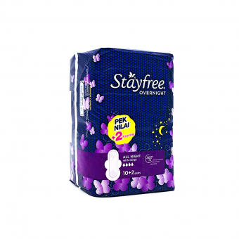 Stayfree Overnight All Night with Wings (10's + 2's)