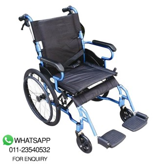 Green City Aluminium Wheelchair Wcx5 (Blue) 12kg - Order 119732