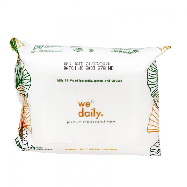 Well Daily Anti-Bacterial Wipes 20S